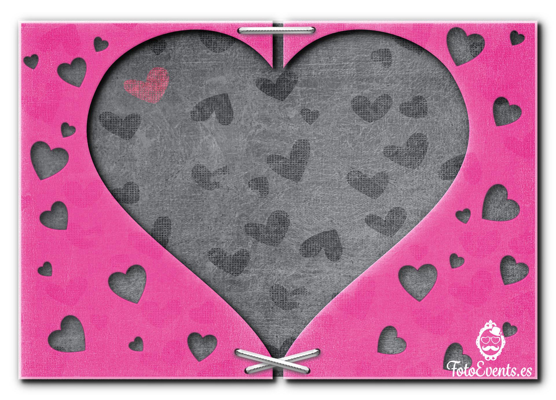 lona corazon rosa